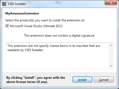 Installing VSIX package via WiX installer – Mummy's blog