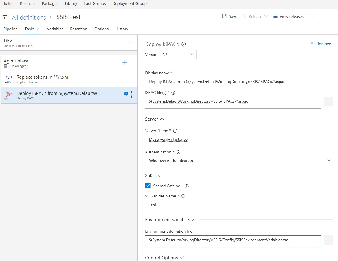 Deploy SSIS packages from TFS/VSTS Build/Release – Mummy's blog